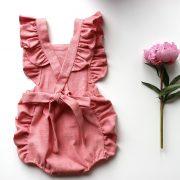 pink frill romper