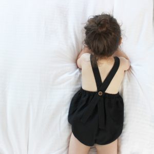 Organic linen romper - neutral baby clothes by Freya Lillie