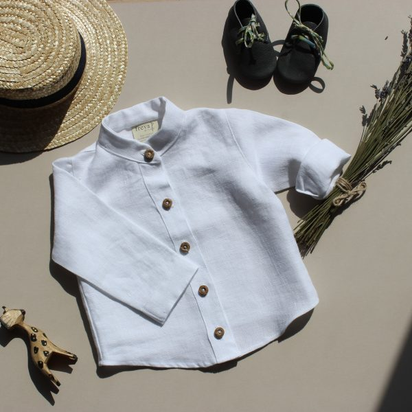 Linen baby tops