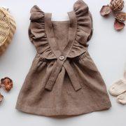 chocolate-linen-dress