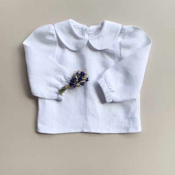 linen baby blouse