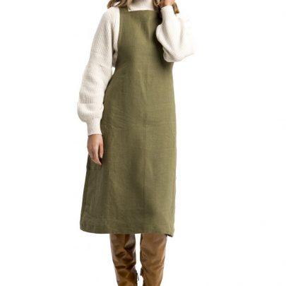 Autumn linen dress